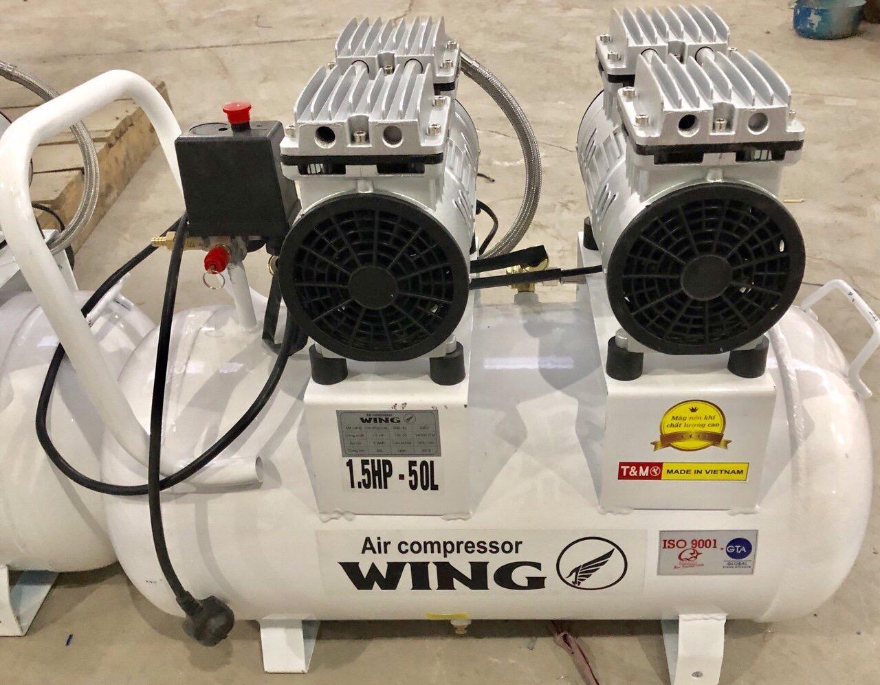 Máy nén khí không dầu Wing TW- OF550x2- 50L